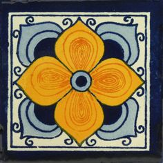 Traditional Mexican Tile - Flor Arabe. Corner accents?