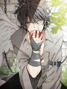 Anime bOy || eating apLe