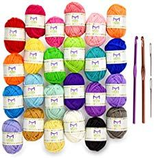If you use yarn, here's a great deal! Grab the Premium Value Yarn Pack - 24 Acrylic Yarn Skeins - Assorted Colors - Perfect for Any Crochet and Knitting Mini Project - Resealable Bag - 10 GIFTS with Each Pack for just and get FREE ship. Crochet Motifs, Crochet Yarn, Crochet Flowers, Free Crochet, Crochet Kits, Crochet Food, Crochet Pillow, Crochet Bunny, Blanket Crochet