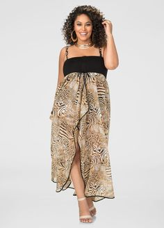 2-In-1 Leopard Swim Cover-Up 2-In-1 Leopard Swim Cover-Up