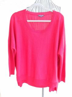 Eileen Fisher Sweater 2X Career Red Long Sleeve Finest Merino Wool New With Tags…