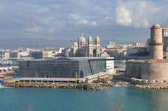 Le Musée des Civilisations de l'Europe et de la Méditerranée (MuCEM) à Marseille,Œuvre de l'architecte Rudy Ricciotti associé à Roland Carta