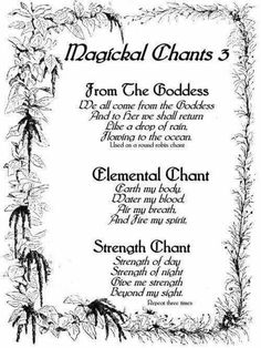 Lot 8 Chant Chanting Book of Shadows Pages BOS Page Real Wiccan Magic Chants Wiccan Witch, Magick Spells, Wicca Witchcraft, Wiccan Art, Healing Spells, Curse Spells, Banishing Spell, Wiccan Rituals, Spirituality