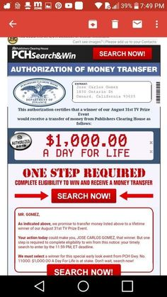 Aug 2019 - I Jose Carlos Gomez confirm publisher's Clearing House notice of compliance for imminent winners selection final step bulletin. Instant Win Sweepstakes, Online Sweepstakes, Microsoft, 2019 Ford Explorer, Investing Apps, Win For Life, Winner Announcement, Lottery Winner, Publisher Clearing House