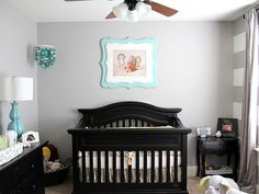 According to Project Nursery's Melisa and Pam, gray is the hue du jour for gender neutral nurseries.