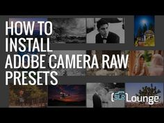 More Info: http://www.slrlounge.com/camera-raw-presets This video is meant to help anyone install presets for Adobe Camera Raw and Adobe Bridge. The instruct...