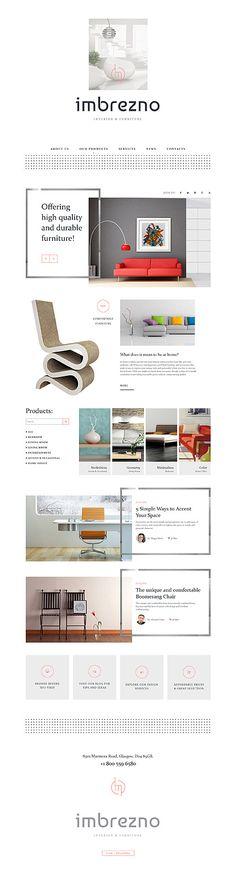 Interior Furniture Design #website #template. #themes #business #responsive #websitethemes