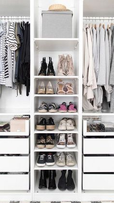 Walk In Closet Organization Ideas Layout Ikea Pax Ideas Ikea Pax Closet, Ikea Pax Wardrobe, Bedroom Wardrobe, Wardrobe Closet, Room Closet, Closet Space, Organizing Walk In Closet, Wardrobe Organisation, Organization Ideas