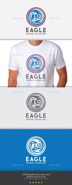 Eagle  Logo Design Template Vector #logotype Download it here: graphicriver.net/...