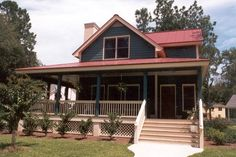 Country Farmhouse House Plan 45628