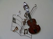 Elegant Wohndekoration metall musik vilolin