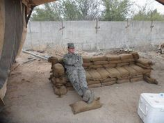 """Sandbag Couch - Brings a whole new meaning to the term """"Chair Force""""!"""