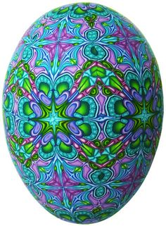 teal veneered egg by It's all about color, Carol Simmons via Flickr