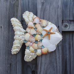 Angel Fish  Wall Hanging Seashells and by SandisShellscapes, $55.00