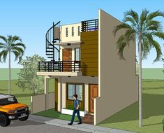 Signed and sealed House Plan for New House Construction, Building Permit or Housing Loan Requirement Two Story House Design, 2 Storey House Design, Model House Plan, House Plans, New House Construction, Plaster Ceiling Design, Building Permit, Modern Minimalist House, Townhouse Designs