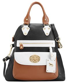 Emma Fox Classics Leather Large Foldover Tote Handbags Accessories Macy S