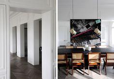A Neuilly Apartment Design by Joseph Dirand - hallway inspiration Classic Interior, French Interior, Joseph Dirand, Paris Apartments, Contemporary Interior Design, Dining Room Design, Dining Rooms, Home Decor Furniture, Apartment Design
