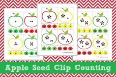Back To School and Fall Apple Themed Math Kindergarten Lesson Plan