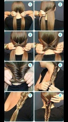 Messy Fishtail Braid Tutorial: Side Loose Braided Hairstyles - Great step by step instructions with photos!: Messy Fishtail Braid Tutorial: Side Loose Braided Hairstyles - Great step by step instructions with photos! No Heat Hairstyles, Braided Hairstyles, Cool Hairstyles, Hairstyle Ideas, Everyday Hairstyles, Wedding Hairstyles, Step Hairstyle, Winter Hairstyles, Hairstyle Tutorials