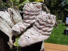 Baby Booties With Cable Pattern
