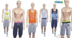 OleSims: Sport Pants and T-shirts • Sims 4 Downloads