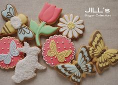 spring themed cookies