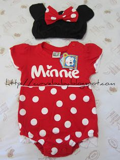 Baby Minnie Romper with Cap    Item Code: BR0015S    Size: F  Age: 0-12 months  Color: Red, Pink    Price: $8