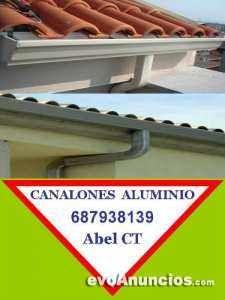 CANALON  DE ALUMINIO EN CARTAGENA MURCIA