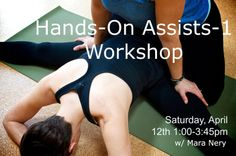 Corvallis, OR Expand your understanding of the body and yoga poses through hands-on assists. In this workshop you will learn how to help your students find deeper expression of asana appropriate to their body a… Click flyer for more >>