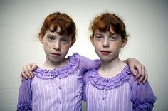 Identical twin sisters Kati (L) and Kaci Anderson from Wibaux, Montana, pose before taking part in a look-alike contest during the final day of the annual Twins Days Festival in Twinsburg, Ohi Twin Girls, Twin Sisters, Walton Ford, Michael Sowa, The Face Magazine, Shaun Tan, Twin Day, William Wegman, August Sander