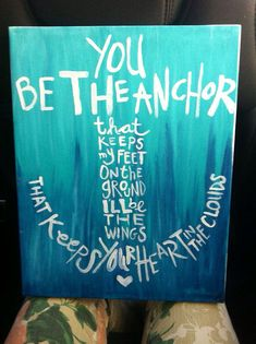 Be the Anchor acrylic paintings by BeColorfulCanvas on Etsy