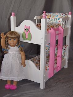 Doll Bunk Bed fits American Girl Doll and 18 by Keatingwoodcraft, $148.00