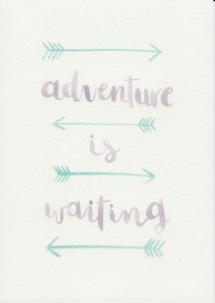 Adventure Quote, Purple Mint Nursery Art, Watercolor Painting, Purple Mint Kids Room, Nursery Print, Kids Room Decor, Boho Arrow Print by violetandalfie on Etsy
