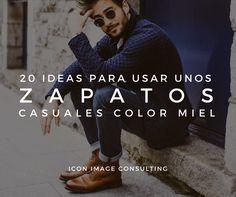Cómo usar unos zapatos casuales color miel. Moda Hombres Fashion tips by Icon, Image Consulting. Asesoría de imagen MASCULINA Medellín. Presencial y online.