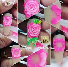 Best Nail Art Decorations To Choose 3d Nail Art, Jolie Nail Art, 3d Acrylic Nails, 3d Nails, 3d Nail Designs, Acrylic Nail Designs, Beautiful Nail Designs, Beautiful Nail Art, Nail Art Fleur