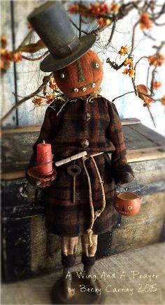 Primitive Fall pumpkin man