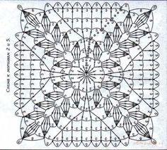 A delicate square with ears of corn in the corners/ Ażurowy kwadrat z motywem kłosów w narożnikach