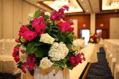 LPV Wedding: Karishma & David. Pink Gerbera, White Hydrangea, White Roses