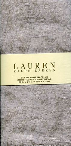 Buy Ralph Lauren Set of Four Paisley Silver Cloth Napkins Cloth Napkins, Fathers Day, Paisley, Ralph Lauren, Entertaining, Dinner, Party, Clothes, Napkins