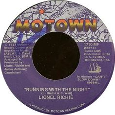Lionel Richie - Running With The Night / Serves You Right (Vinyl) at Discogs