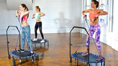 The trampoline cardio workout zeroes in on your upper body.