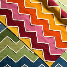 A Carnival of Color - Build a kid-centric space from the floor up with this cheery selection of rugs.