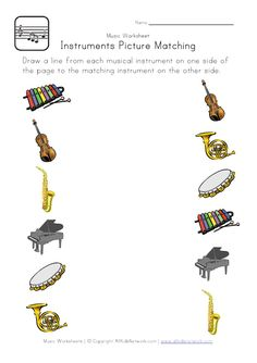 Musical Worksheets for Kids. 20 Musical Worksheets for Kids. Musical Instruments Number Count Worksheet for Kindergarten Music Worksheets, Worksheets For Kids, Kindergarten Worksheets, In Kindergarten, Preschool Music Activities, Free Preschool, Music Lessons For Kids, Music Lesson Plans, Music For Kids