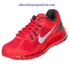 9757c996fe89 Nike Air Max 2013 Womens Hyper Red Reflect Silver Anthracite 555363 600 Nike  Air Max For