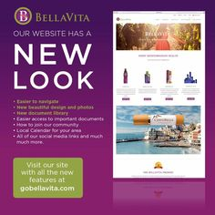 check out our new look! visit www.gobellavita.com