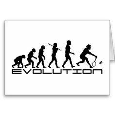 Evolution homme en joueur de badminton - d'autres produits avec ce thème : sac, mug... voir sur zazzle.
