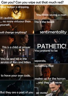 I never realized that he was talking more about himself in this scene then he was Natasha.