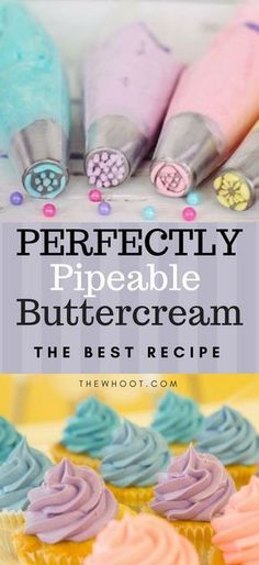 The Best Buttercream Recipe That's Perfectly Pipeable This delicious Buttercream Piping is perfect for all your cupcakes and cakes and we have found you a collection of the best recipes that are delicious. Piping Buttercream, Icing Frosting, Icing For Piping, Cupcake Frosting Techniques, Buttercream Frosting For Cupcakes, Best Cupcake Frosting Recipe For Piping, Wilton Buttercream Recipe, Cookie Cake Icing, Cupcake Piping