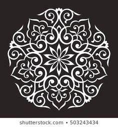 Imagens, fotos stock e vetores similares de Pattern mandala white stencil doodles sketch good mood - 1648335979 Rangoli Patterns, Rangoli Designs, Stencil Art, Stencils, Chocolate Template, Motif Arabesque, Floral Pattern Vector, Bohemian Pattern, Turkish Art