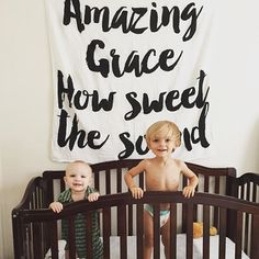 Organic Cotton Muslin Swaddle Blanket - Amazing Grace How Sweet the Sound